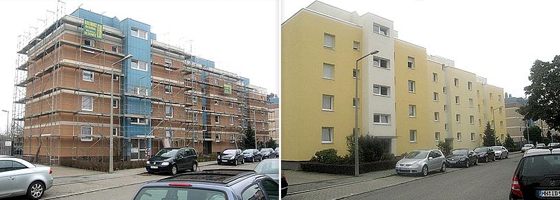 Rehdorfer Straße - Vorher / Nachher
